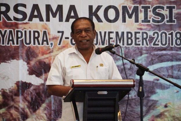 Caption: Plt Kepala Dinas ESDM Provinsi Papua, Fred James Boray.