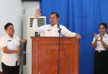 Caption : Wakil Walikota Ir. Rustam Saru,MM saat membuka Kegiatan Pertemuan Kelompok Kerja di Kampung KB yang diselenggarakan DP3A-KB, Rabu (07/10/2018).