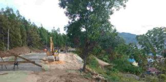 Caption : Kondisi pengerjaan jalan alternatif Bhayangkara -Skyland yang sudah mencapai 88 persen