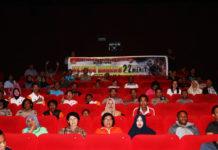 Suasana nonton bareng film berjudul 22 Menit di Studio XXI Mall Jayapura
