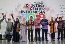 Para peraih penghargaan The Best Contact Center Indonesia (TBCCI) 2018