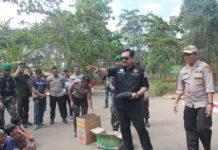 Tim Eksistensi Kapolres bersama Kasatgas Binmas Noken Polrisaat mengunjungi Polsek Sota perbatasan RI-PNG