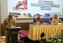 Caption: Kegiatan Rapat Koordinasi Bidang Infrastruktur, di Jayapura, Selasa (25/9/2018). Foto: Ist / PapuaSatu.com