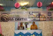 Caption : Kepala BPJS Kesehata Cabang Biak Numfor didampingi Kadinsos Djonny Karel Rumpaidus, saat memberikan keterangan pers, Kamis (29/8/2018). Foto : Viona Sihasale/PapuaSatu.com