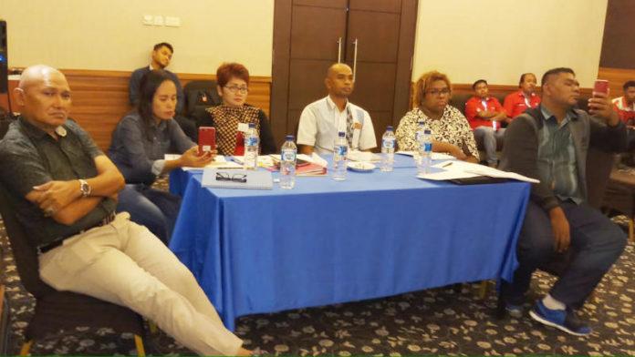 Caption : Suasana Pertemuan 30 pengusaha SPBU dari wilayah MOR VIII pada kegiatan sertifikasi para manager SPBU wilayah Maluku-Papua.