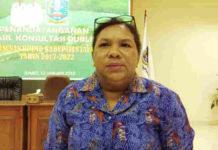 Caption : Kepala Bappeda Kabupaten Jayapura, Dra. Hanna Hikoyabi