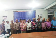 Caption foto : Para pengurus FKUB Papua periode 2018-2023. Foto : Sony/PapuaSatu.com