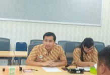 Caption : Pps. Kepala BPJS Kesehatan Cabang Jayapura, Faizal Busran saat Konferensi Pers, Selasa (16/4/2019).