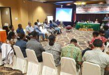 Caption : Suasana Pelatihan Basic Program HIV AID Bagi Pengurus KPA Provinsi Papua yang diselenggarakan Linkages di Grand Abe Hotel, Selasa (23/4/2019).