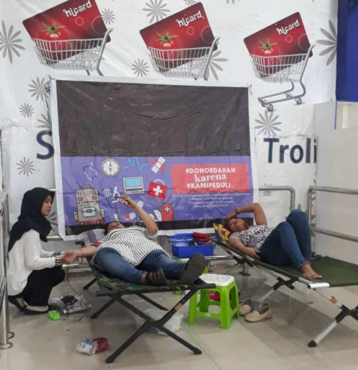 Caption : Suasana Donor Darah yang dilakukan PMI Jayapura, , Senin (27/5/2019).