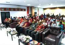 Caption : Suasana Halal Bihalal Kemenkumham Papua, Kamis (27/6/2019) di Lantai 2 Aula Kanwil Kemenkum HAM Papua Jayapura.