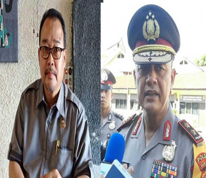 Wakil ketua Komisi I DPR Papua, Tan Wie Long dan Kapolda Papua Irjen Pol Drs. Rudolf Albert Rodja
