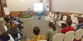 Caption : Suasana Pelatihan ke dua Media&CSO terhadap Pemberitaan Media yang Positif bagi ODHA di hotel Aston Jayapura, Selasa (16/07/2019).