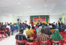 Caption : Suasana pembukaan sosialisasi Perda Nomor 9 Tahun 2018 tentang pencegahan dan penanggulangan HIV dan AIDS di Aula Bupati Kab Keerom, Jl. Pemerintahan No.1 Arso Kota, Kabupaten Keerom, Papua, Sabtu (26/7/2019).
