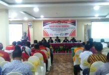 Caption : Suasana rapat pleno penetapan 25 Caleg DPRD terpilih, di Hotel HoreX Sentani, Kabupaten Jayapura, Selasa (30/7/2019) pagi.