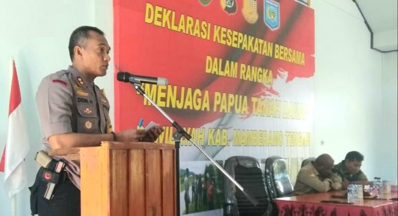 Kabupaten Mamberamo Tengah Sepakat Jaga Papua Tanah Damai Papuasatu Com