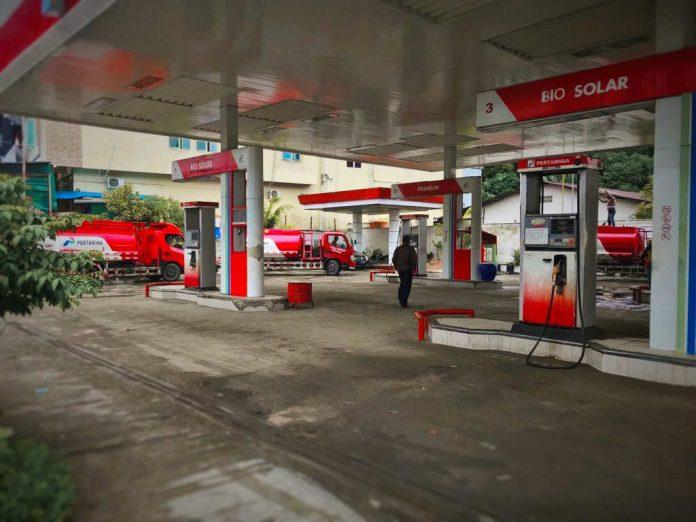 Salah Satu Pom Bensin di Kota Jayapura