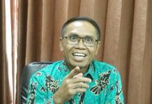 Caption: Rektor Universitas Yapis Papua Dr. H. Muhdi B. Hi Ibrahim, S,E.,M.M. Foto : Humas/PapuaSatu.com