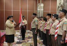 Caption : suasana pengurus Saka Kencana daerah gerakan pramuka Papua dengan masa bakti 2019-2024 di Hotel Home Abepura-Jayapura, Jum'at (19/10/2019).