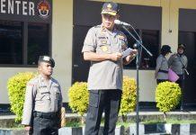Wakapolda Papua Brigjen Pol Drs. Yakobus Marjuki saat memimpin upacara hari sumpah pemuda 28 Oktober 2019 di Lapangan Apel Mapolda Papua, Senin (28/10/19)