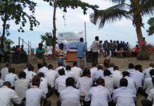 Caption : Suasana saat kegiatan Penerimaan Mahasiswa Baru Oleh IPMDT di Jayapura, Sabtu (16/11/2019) siang. Foto : Tinus Yigibalom/PapuaSatu.com