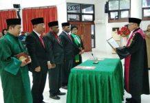 Caption: Suasana pelantikan Ketua DPRD Kabupaten Jayapura priode 2019-2024.