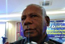 Caption: Ketua DPW Partai Nasional Demokrat (Nasdem) Papua Mathius Awoitauw.