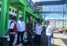 Caption: Wamen PUPR, Jhon Wempi Wetipo saat berkunjung ke Wamena, Kabupaten Jayawijaya, Papua, Kami (5/12/2019).
