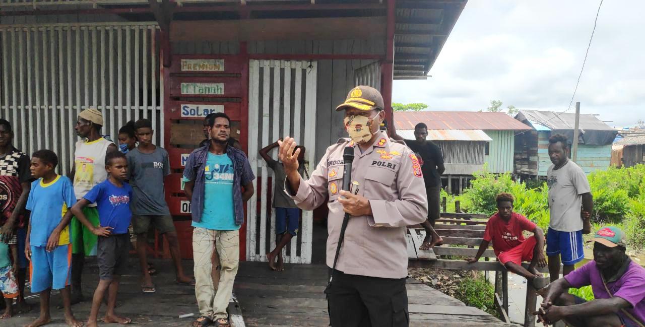 Kapolres Asmat Beri Imbauan Tentang Pencegahan Covid 19 Di Kabupaten Asmat Papuasatu Com