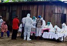 Kegiatan rapid tes yang rutin dilaksanakan oleh pihak medis Kabupaten Jayapura