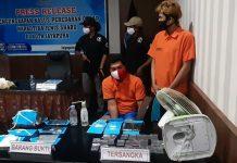 Dua residivis bandar narkotika jenis shabu yang kembali diringkus aparat BNN Papua