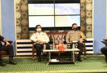 Suasana dialog interaktif seputar Operasi Patuh Matoa 2020 Polda Papua yang di studio TVRI Papua