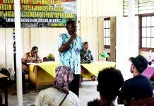 Penyuluhan kehutanan yang digelar personil TNI pada program TMMD ke-108 tahun 2020 di wilayah Kodim 1709/Yapen Waropen, Senin (13/07/2020)