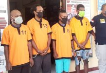 Empat pelaku Curas di sejumlah tempat di Kabupaten Jayapura yang berhasil dibekuk polisi