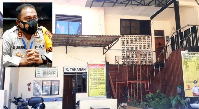 Rumah Tahanan Polresta Jayapura Kota (inset : Kapolresta Jayapura Kota, AKBP Gustaf R. Urbinas)
