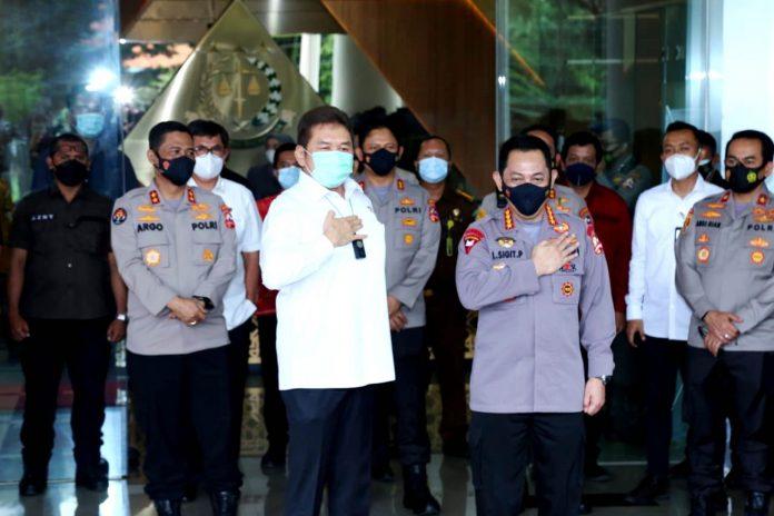 Kunjungan Kapolri Jenderal Listyo Sigit Prabowo di Kantor Kejaksaan Agung, Rabu (3 Februari 2021)