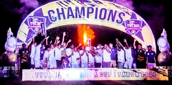 Suasana penutupan turnamen Waena Cup-I tahun 2021
